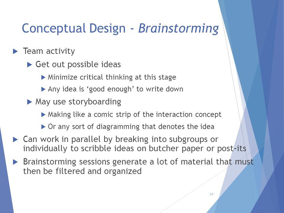 Conceptual Design - Brainstorming