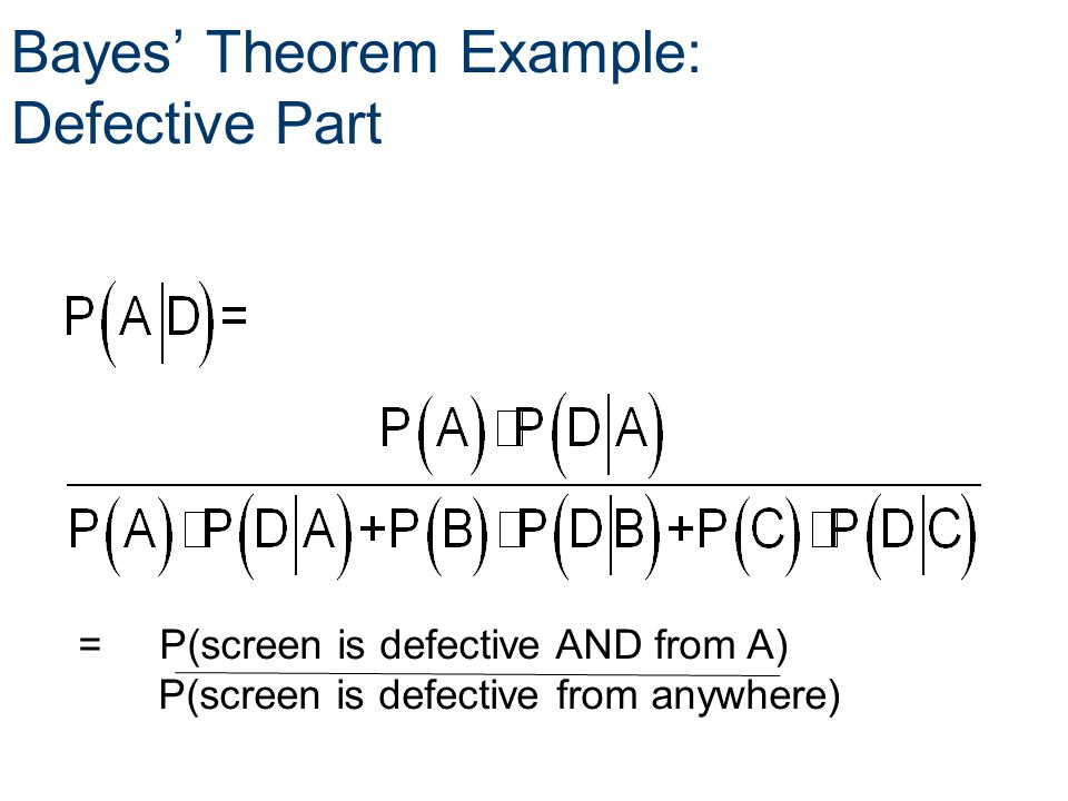 Bayes' Theorem Example: Defective Part