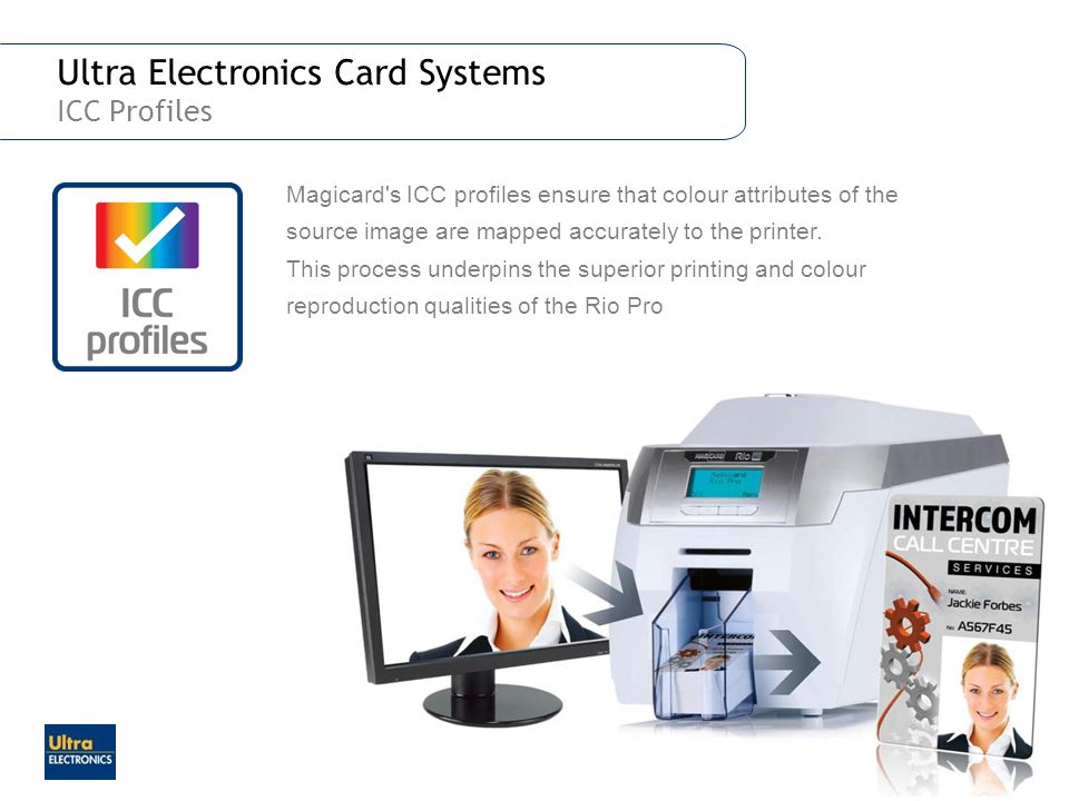 Ultra Electronics Card Systems ICC Profiles