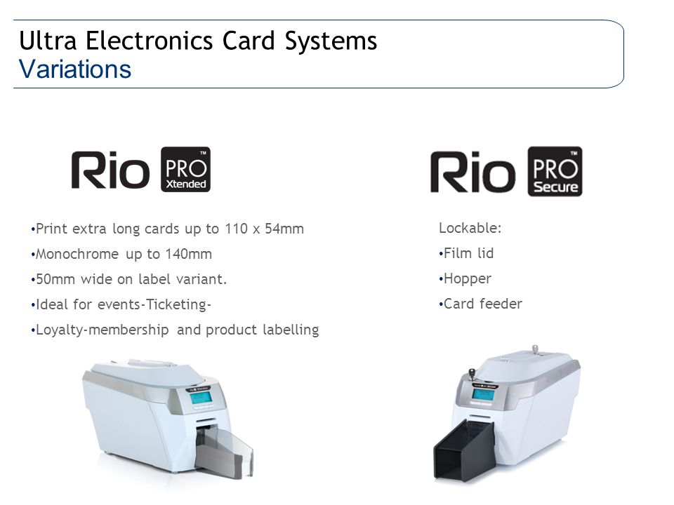 Ultra Electronics Card Systems Variations