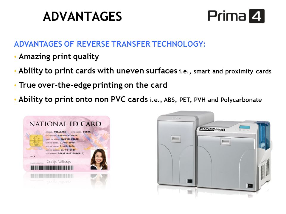 ADVANTAGES ADVANTAGES OF REVERSE TRANSFER TECHNOLOGY: