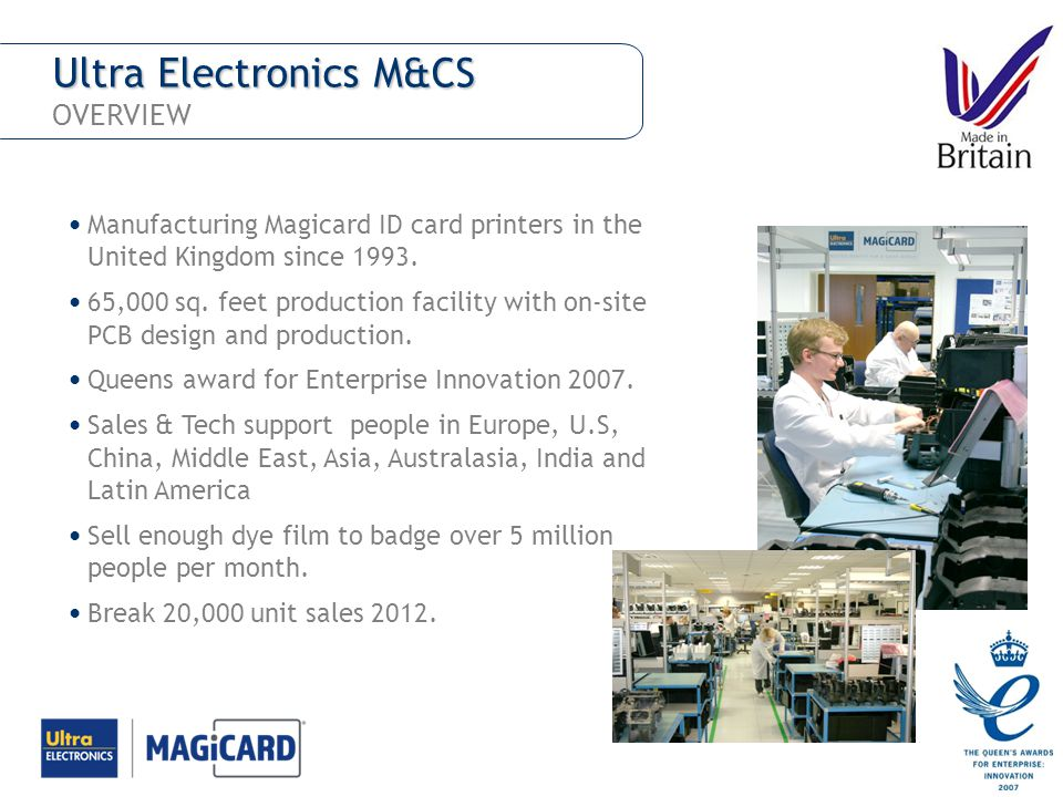 Ultra Electronics M&CS OVERVIEW