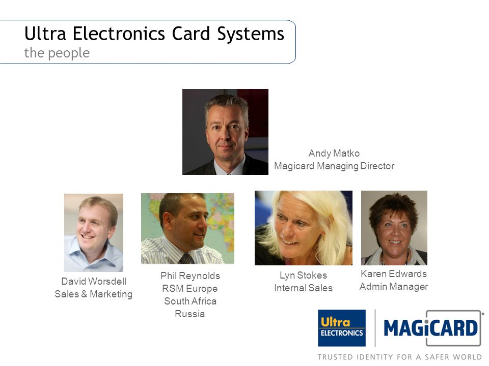 Ultra Electronics Card Systems the people