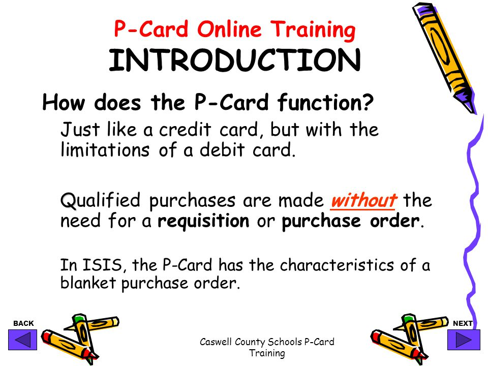 P-Card Online Training INTRODUCTION