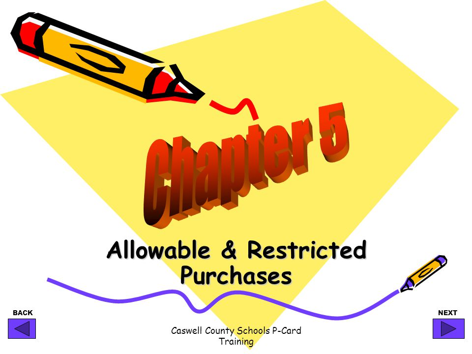 Allowable & Restricted Purchases