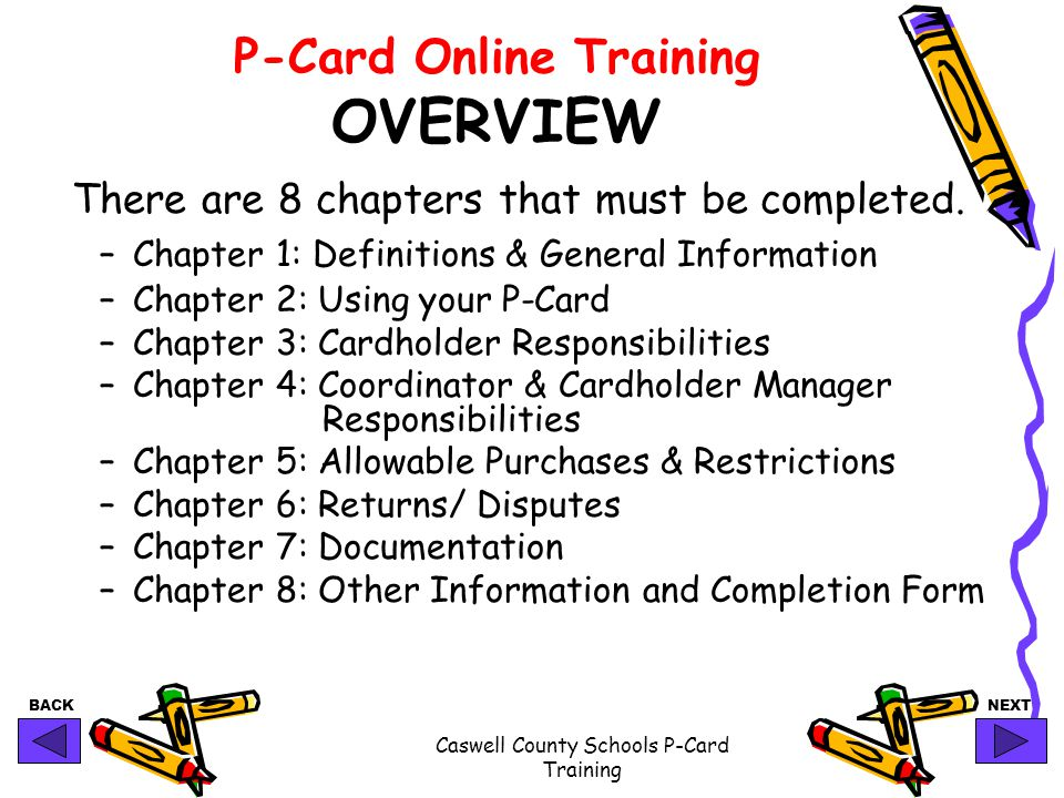 P-Card Online Training OVERVIEW