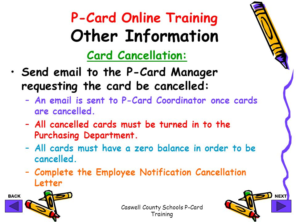 P-Card Online Training Other Information