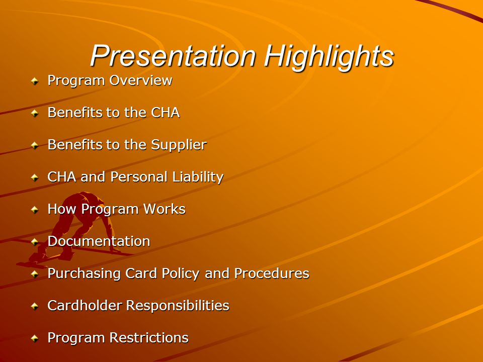 Presentation Highlights