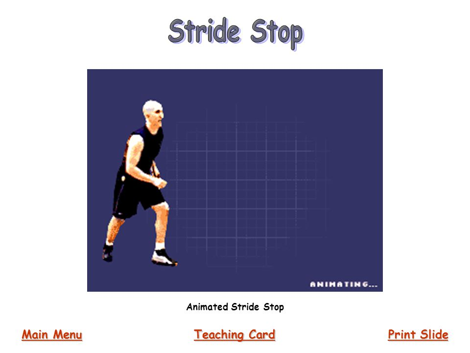 Stride Stop Animated Stride Stop Main Menu Teaching Card Print Slide