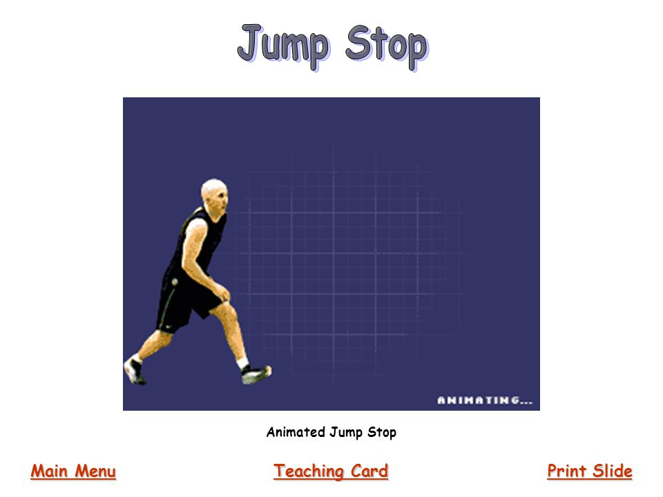 Jump Stop Animated Jump Stop Main Menu Teaching Card Print Slide