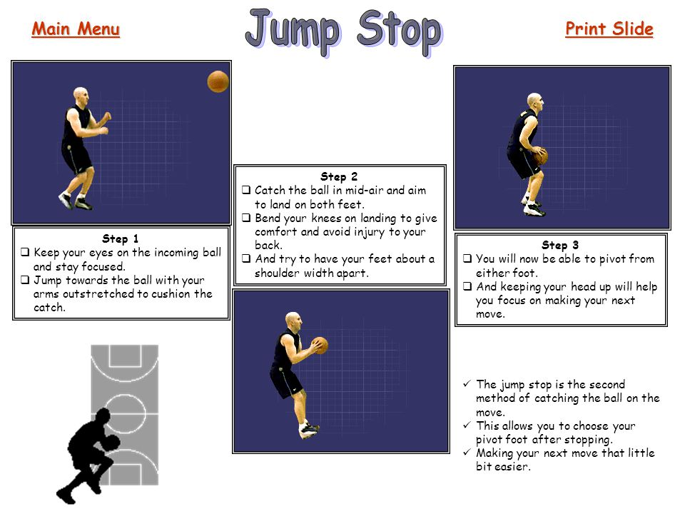 Jump Stop Main Menu Print Slide