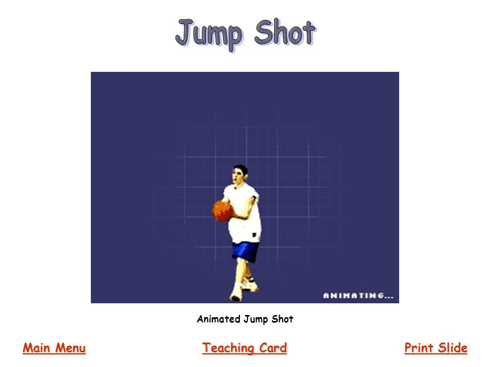 Jump Shot Animated Jump Shot Main Menu Teaching Card Print Slide