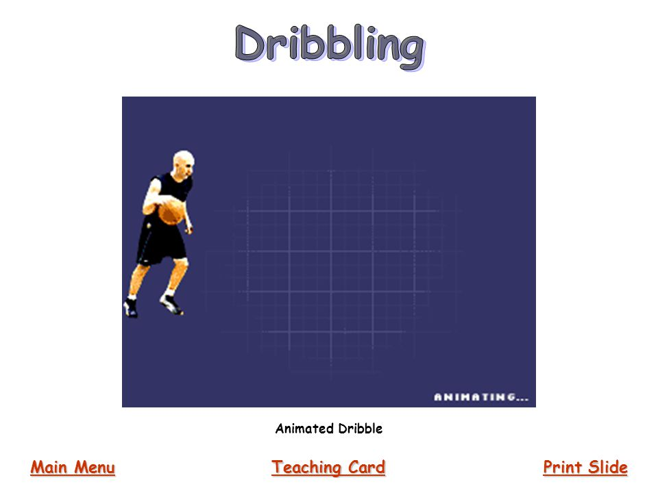 Dribbling Animated Dribble Main Menu Teaching Card Print Slide