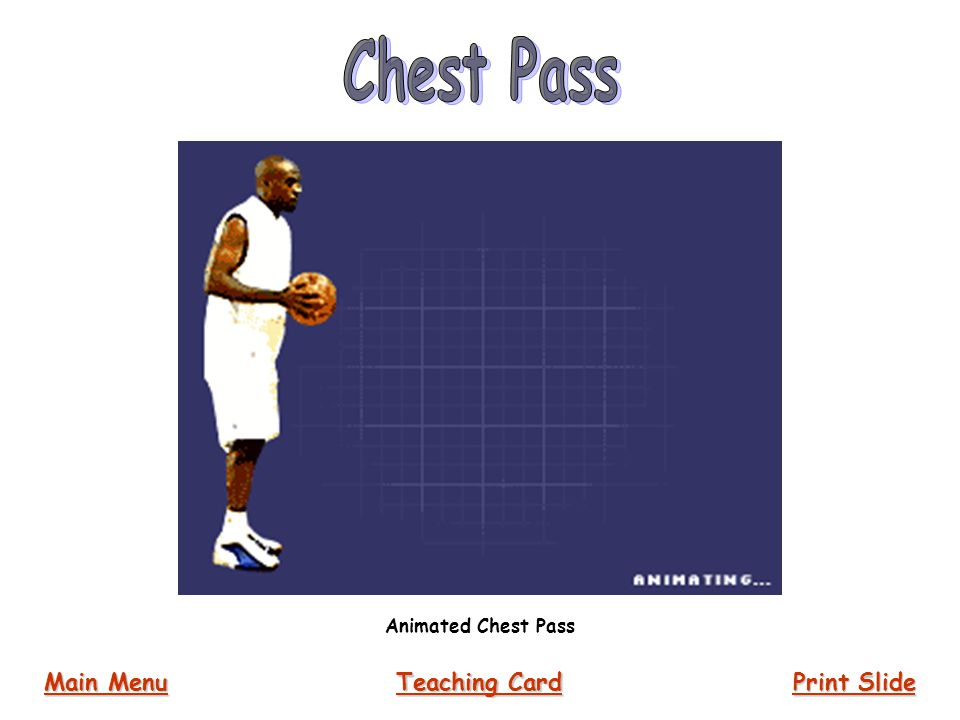 Chest Pass Animated Chest Pass Main Menu Teaching Card Print Slide