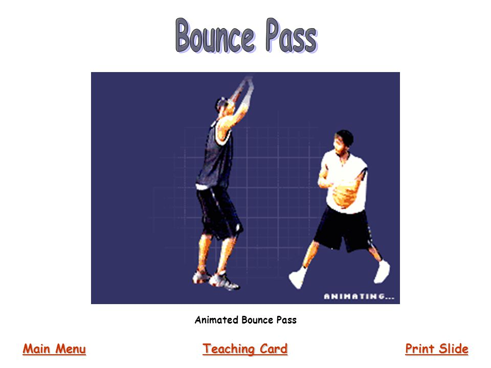 Bounce Pass Animated Bounce Pass Main Menu Teaching Card Print Slide