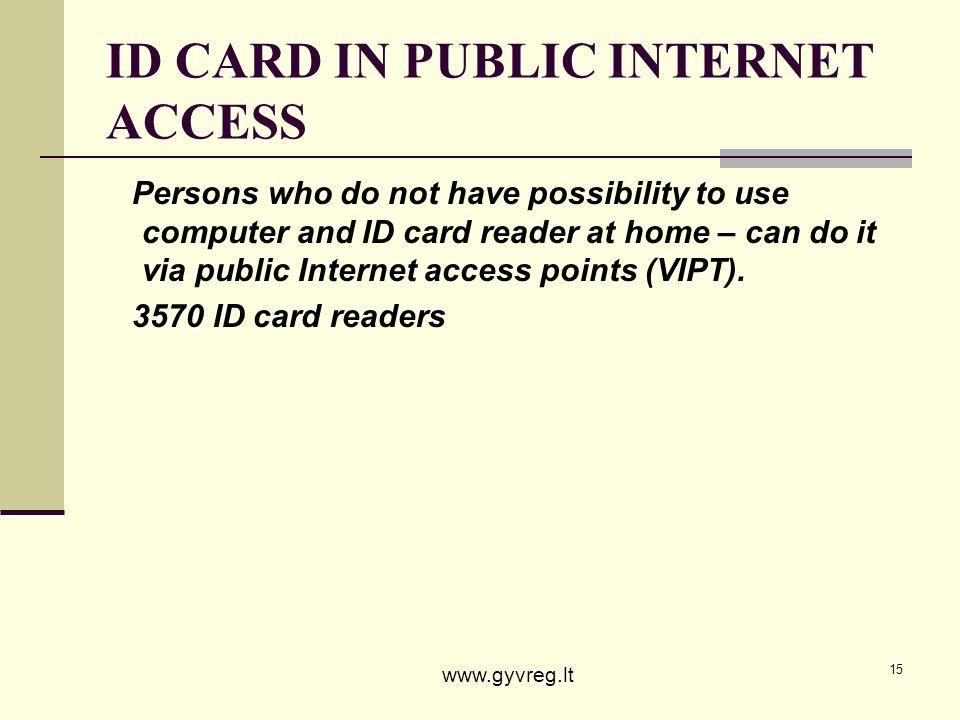 ID CARD IN PUBLIC INTERNET ACCESS