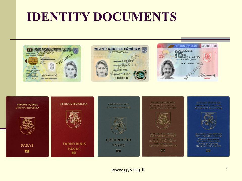 IDENTITY DOCUMENTS www.gyvreg.lt