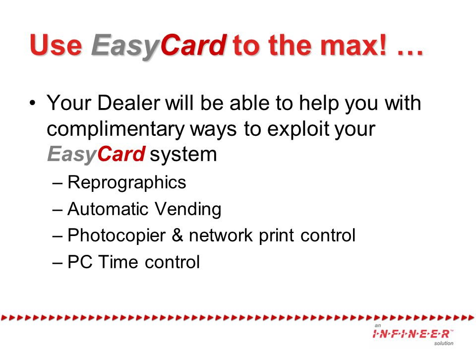Use EasyCard to the max! …