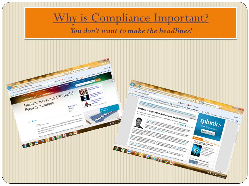 Why is Compliance Important You don't want to make the headlines!