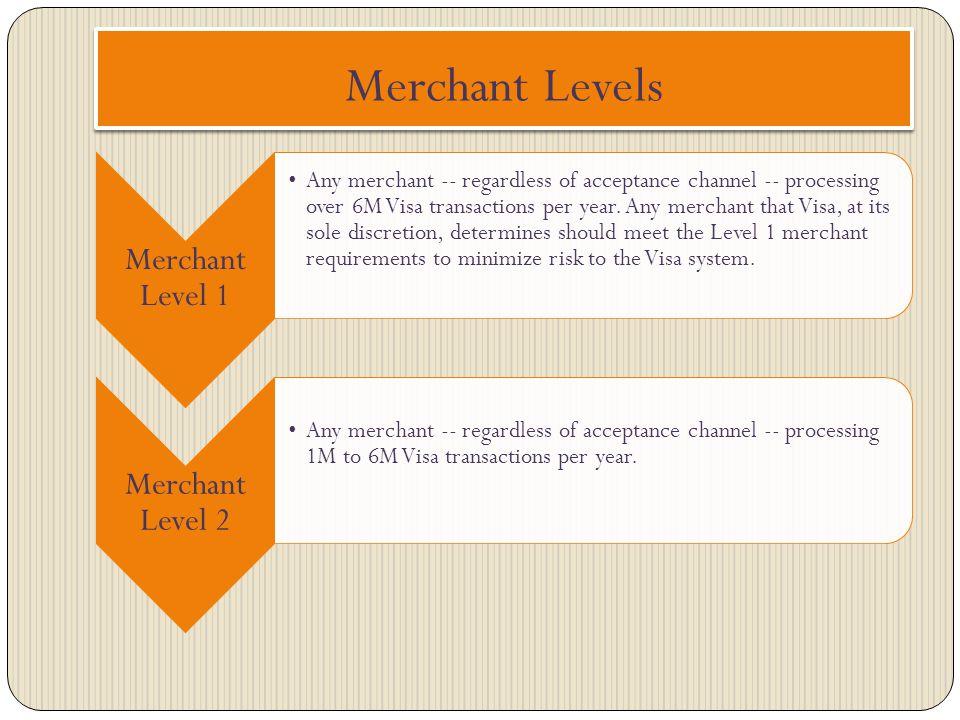 Merchant Levels Merchant Level 1 Merchant Level 2