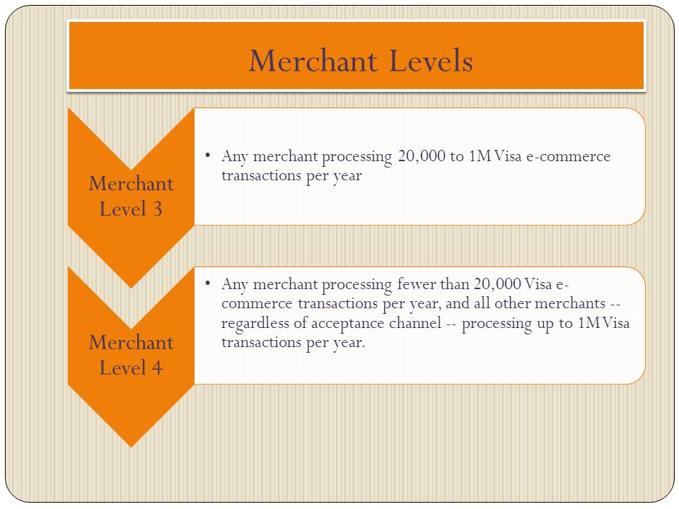 Merchant Levels Merchant Level 3 Merchant Level 4