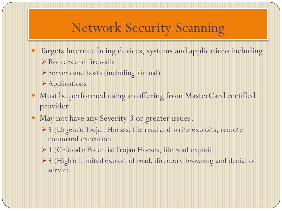 Network Security Scanning