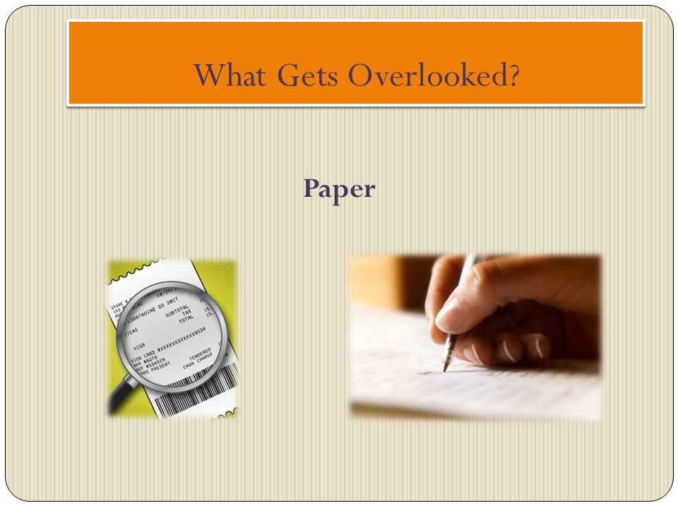 What Gets Overlooked Paper