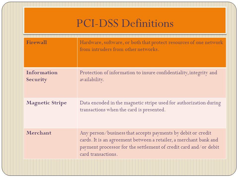 PCI-DSS Definitions Firewall
