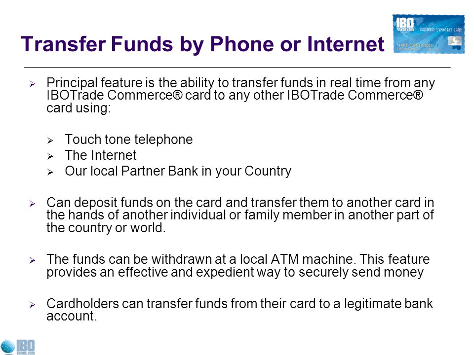 Transfer Funds by Phone or Internet