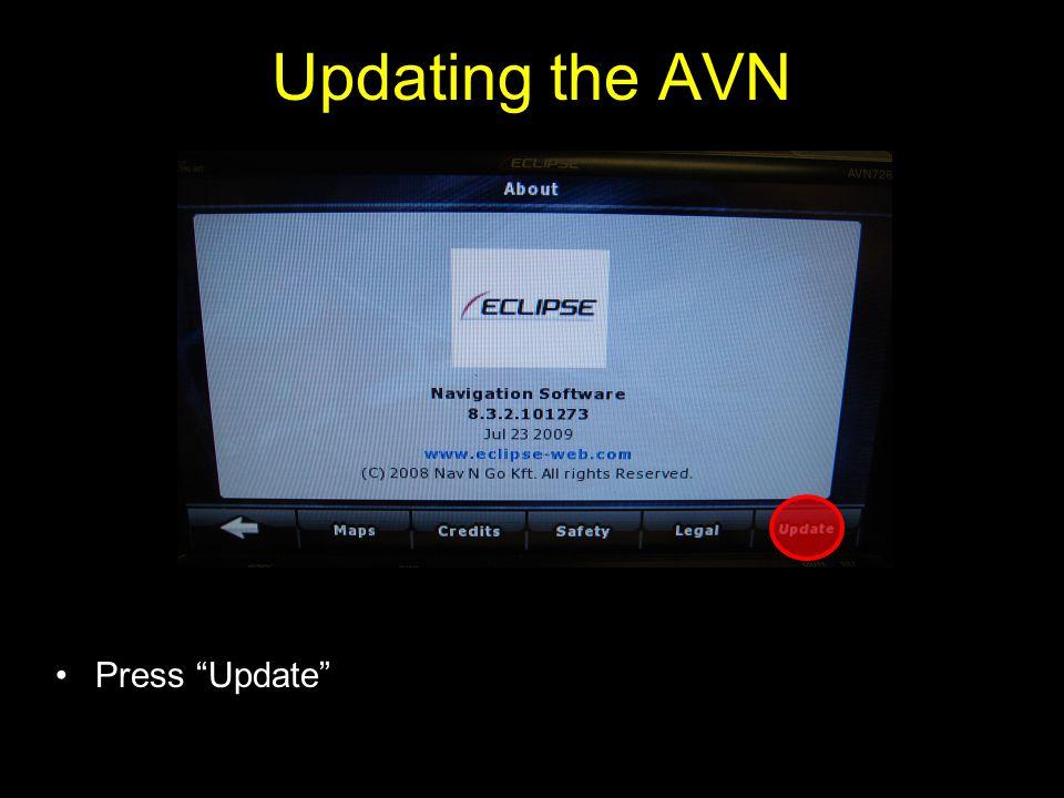 Updating the AVN Press Update