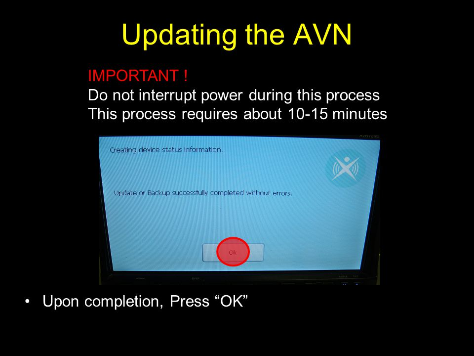 Updating the AVN IMPORTANT !