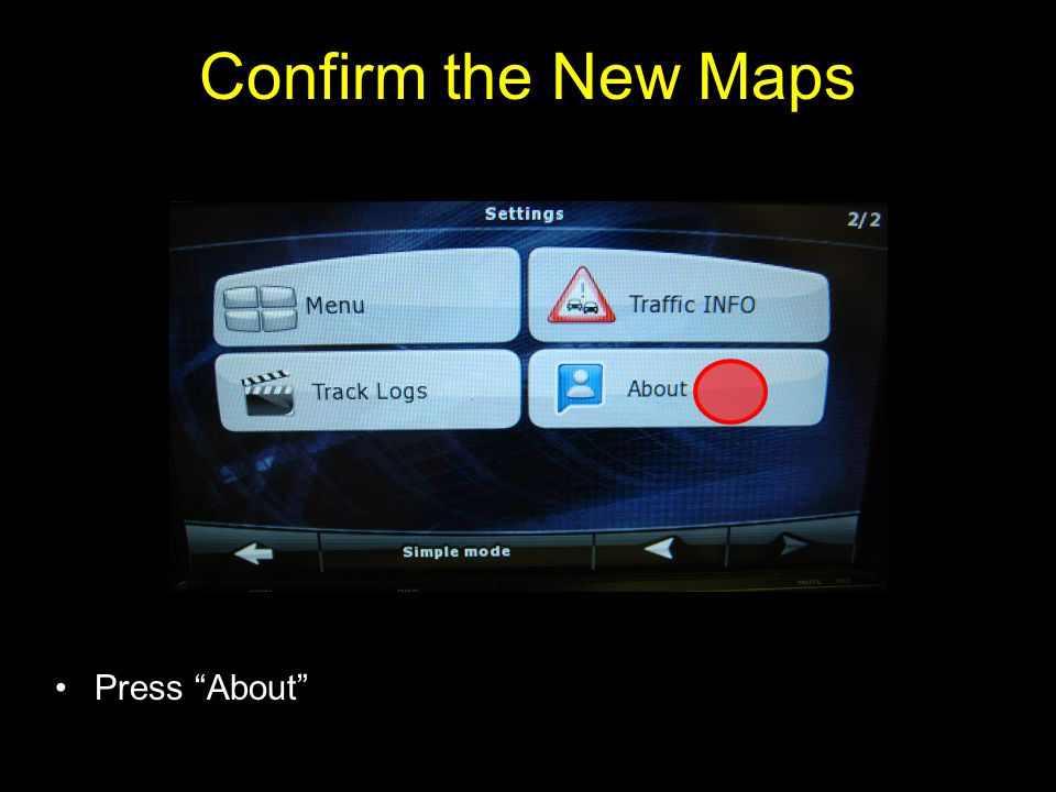 Confirm the New Maps Press About