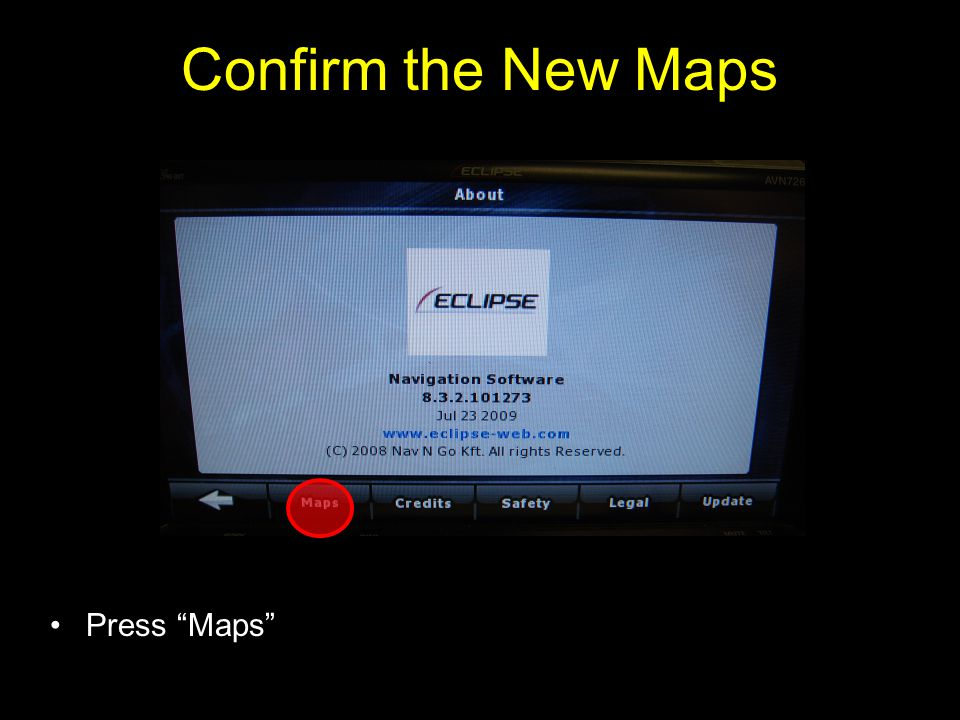 Confirm the New Maps Press Maps