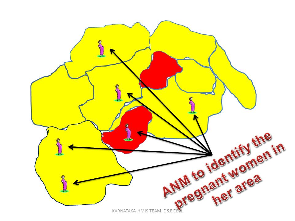 ANM to identify the pregnant women in her area