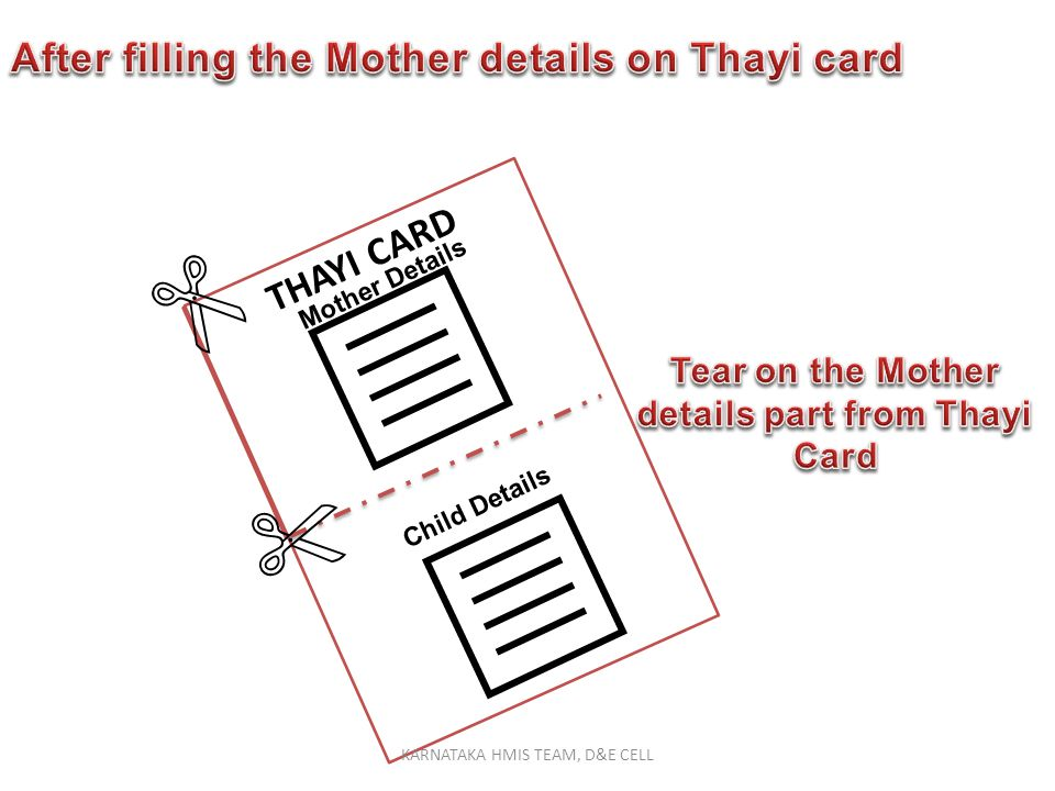 Tear on the Mother details part from Thayi Card