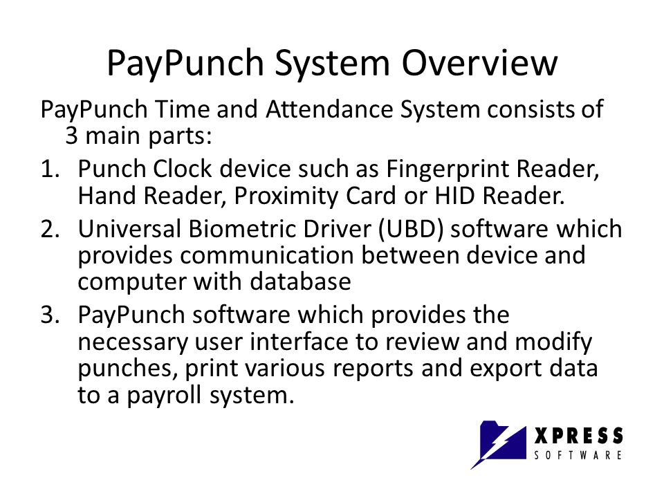 PayPunch System Overview