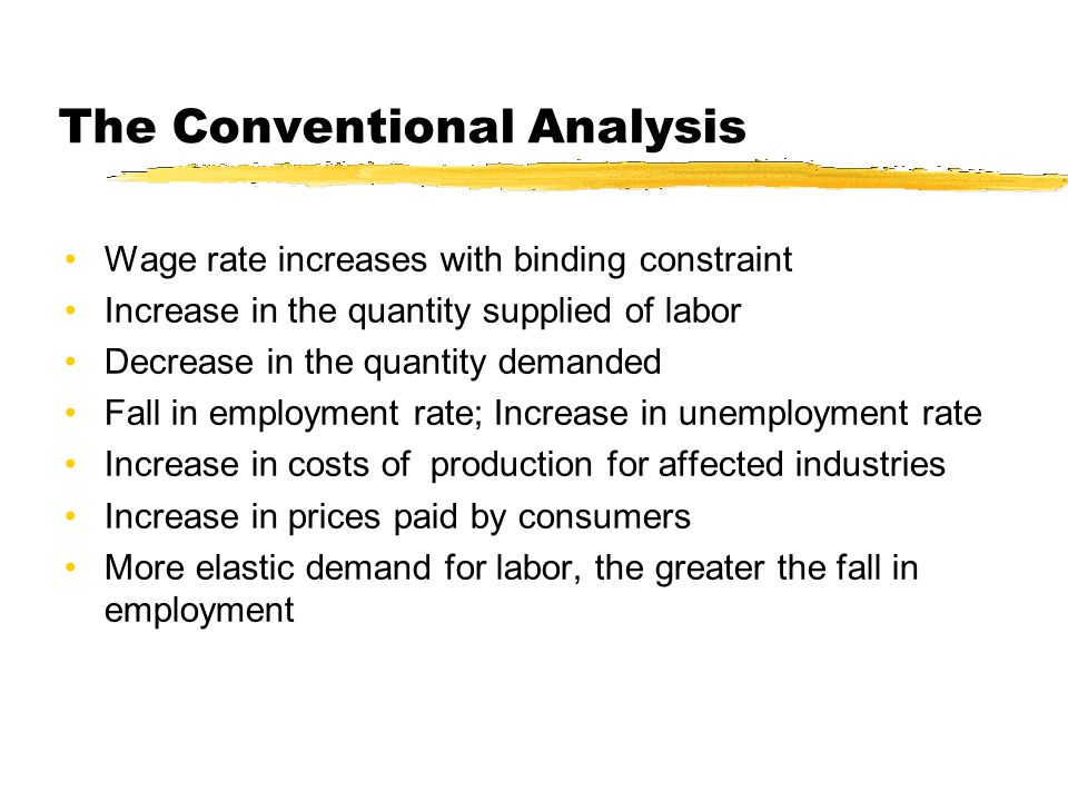 The Conventional Analysis