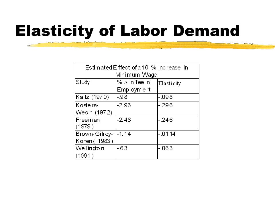 Elasticity of Labor Demand