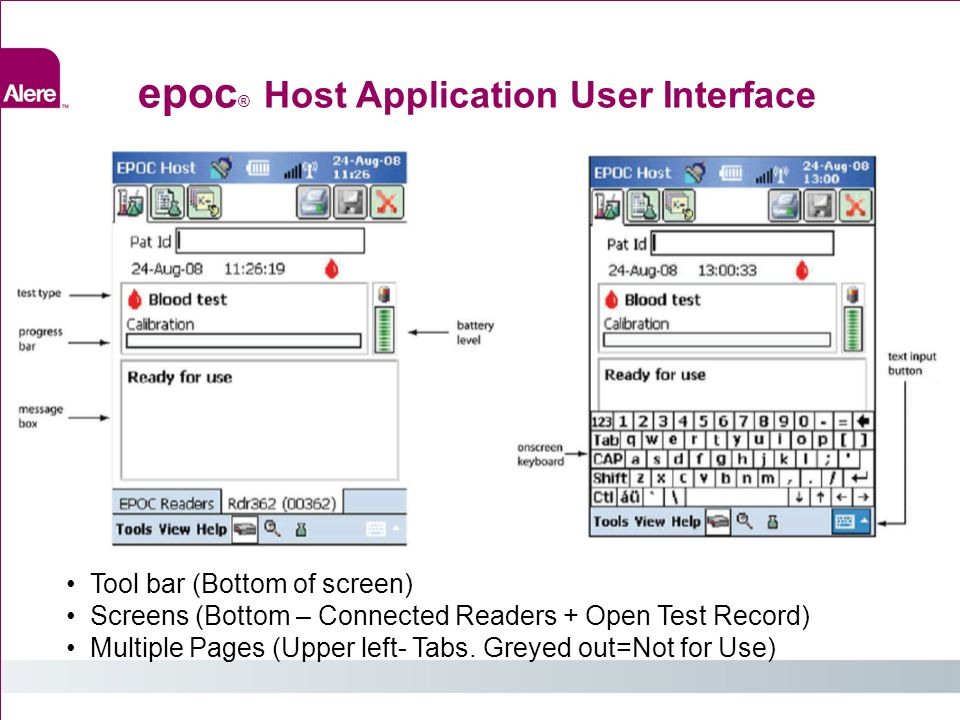 epoc® Host Application User Interface