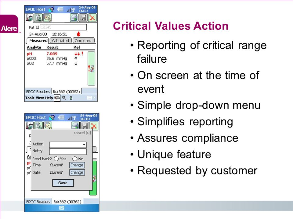 Critical Values Action