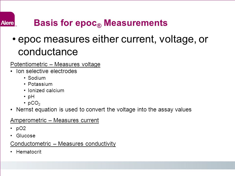Basis for epoc® Measurements