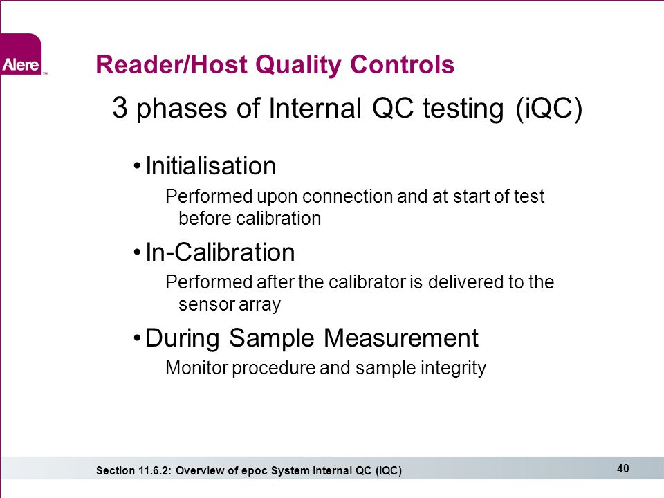 Reader/Host Quality Controls