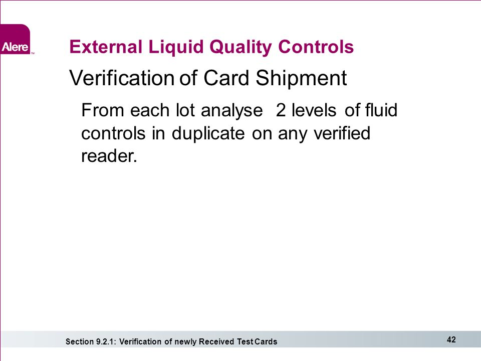 External Liquid Quality Controls