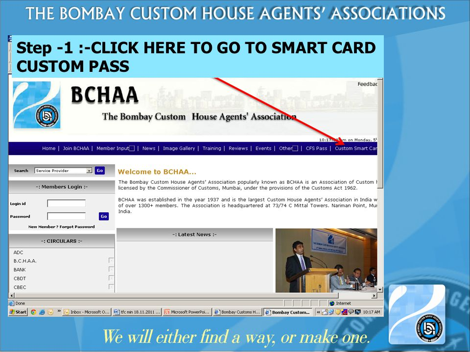Step -1 :-CLICK HERE TO GO TO SMART CARD CUSTOM PASS