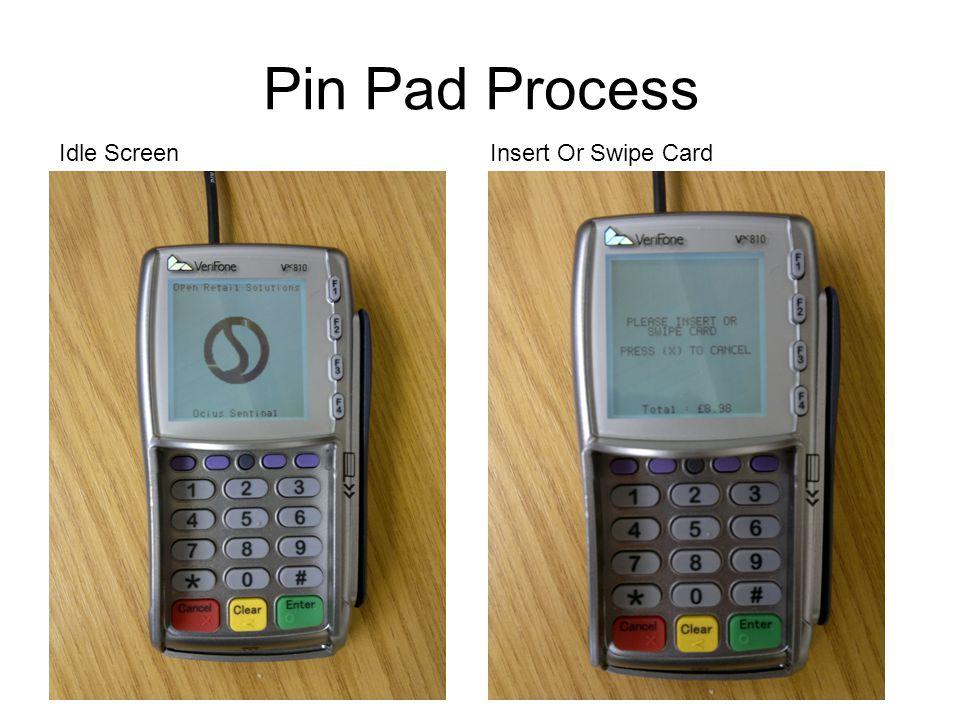 Pin Pad Process Idle Screen Insert Or Swipe Card