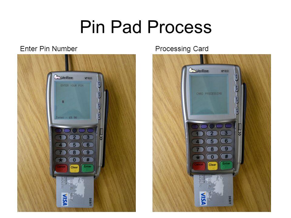 Pin Pad Process Enter Pin Number Processing Card