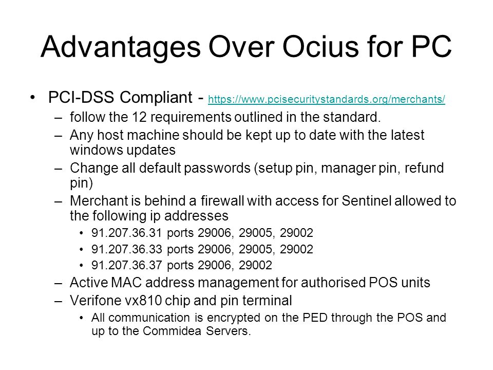 Advantages Over Ocius for PC