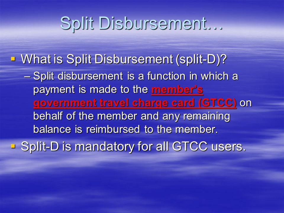 Split Disbursement… What is Split Disbursement (split-D)