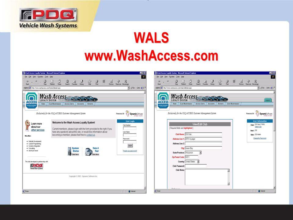 WALS www.WashAccess.com