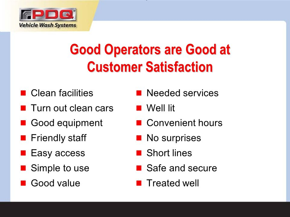 Good Operators are Good at Customer Satisfaction